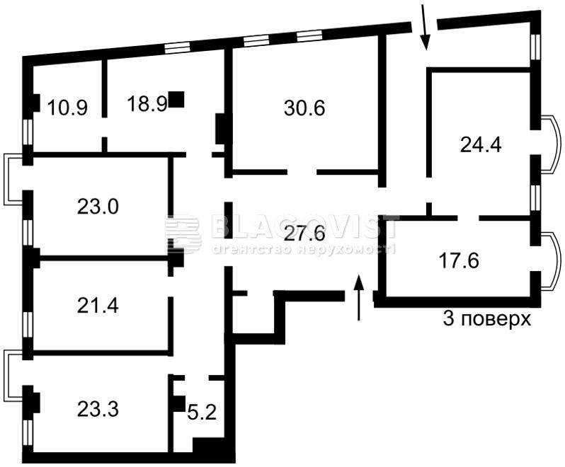 Офис, Круглоуниверситетская, Киев, F-43314 - Фото 2