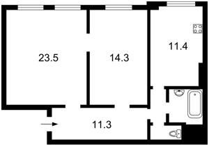 Квартира Тбіліський пров., 1, Київ, Z-266624 - Фото2