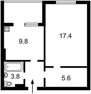 Квартира Тютюнника Василя (Барбюса Анрі), 53, Київ, Z-593532 - Фото2