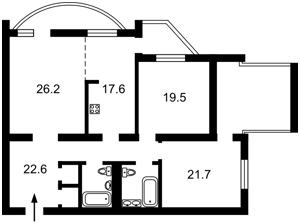 Квартира Героев Сталинграда просп., 22, Киев, Z-689659 - Фото2