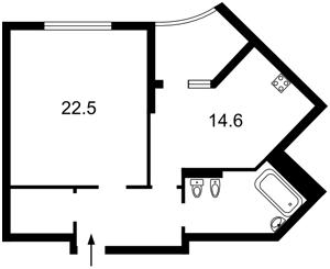 Квартира Вышгородская, 45, Киев, Z-688074 - Фото2