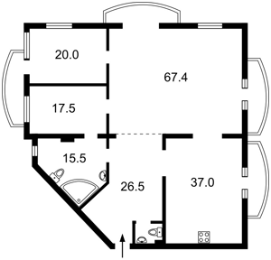Квартира Антоновича (Горького), 140, Київ, F-43549 - Фото2
