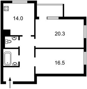 Квартира Микільсько-Слобідська, 3б, Київ, Z-689721 - Фото2