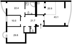 Квартира Тургенєвська, 45/49, Київ, F-43548 - Фото2