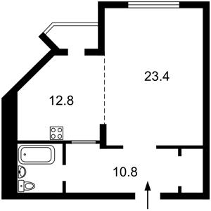Квартира Окіпної Раїси, 4а, Київ, Z-881477 - Фото2
