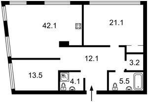 Квартира Заречная, 2 корпус 2, Киев, E-39079 - Фото2