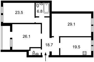 Квартира Героїв Сталінграду просп., 14б, Київ, R-31807 - Фото2