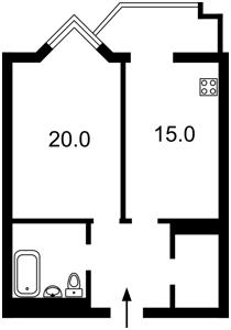 Квартира Саперне поле, 14/55, Київ, H-47776 - Фото2