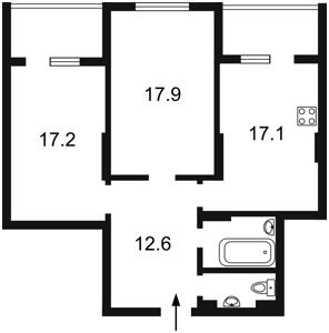 Квартира Кондратюка Юрия, 3, Киев, F-43596 - Фото 2
