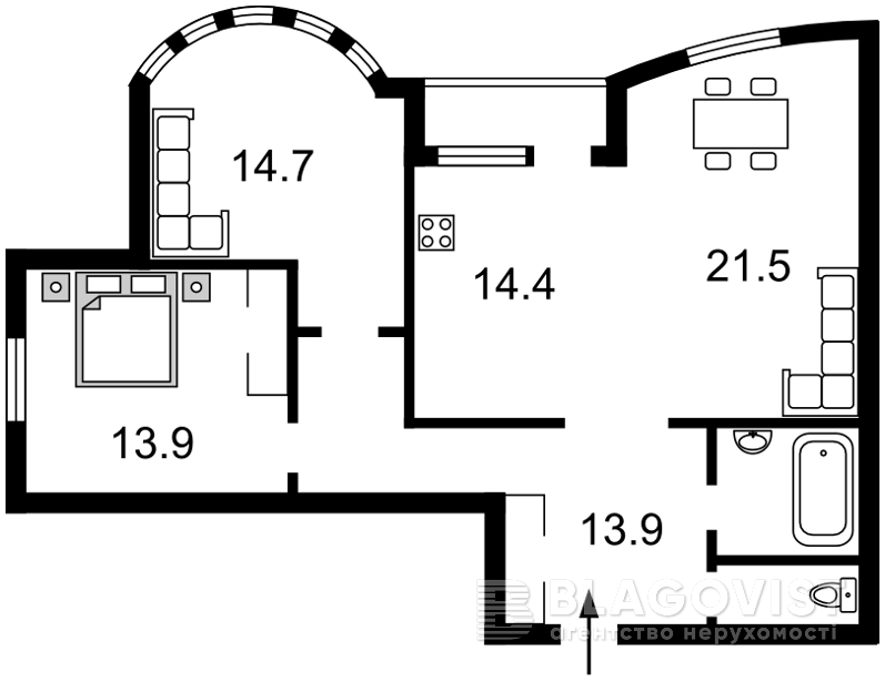 Квартира D-36447, Иорданская (Гавро Лайоша), 9к, Киев - Фото 2