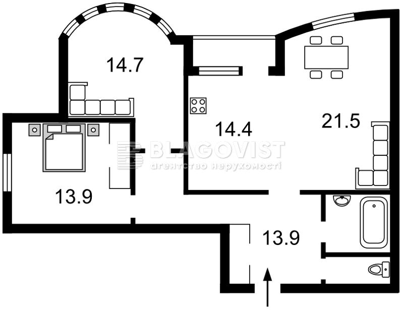 Квартира D-36446, Иорданская (Гавро Лайоша), 9к, Киев - Фото 2