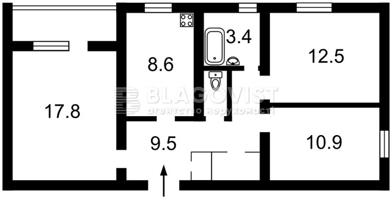 Квартира F-43647, Митрополита Андрея Шептицкого (Луначарского), 3г, Киев - Фото 3