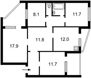 Квартира Приречная, 37, Киев, A-111445 - Фото2