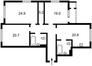 Квартира Драгомирова Михаила, 15б, Киев, E-39844 - Фото2