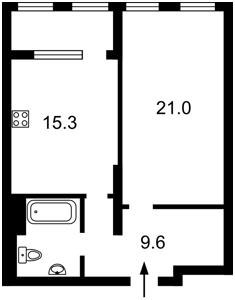 Квартира Антоновича (Горького), 44, Київ, Z-686975 - Фото2