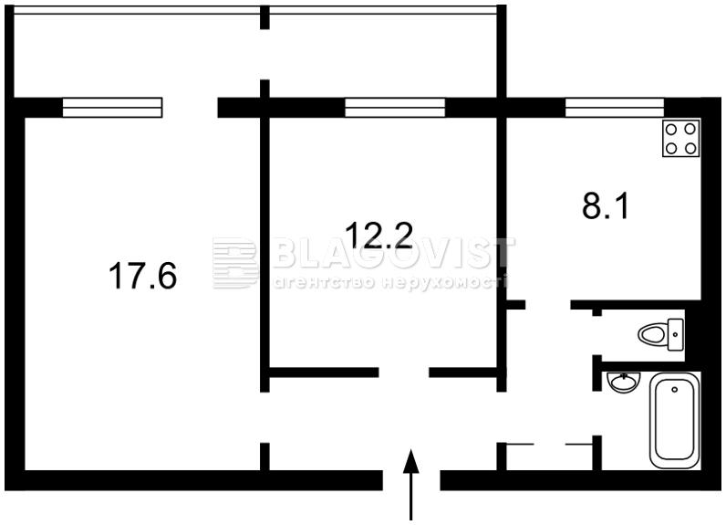 Квартира E-39979, Маяковського Володимира просп., 15а, Київ - Фото 2