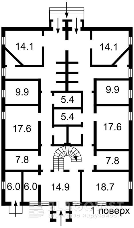 Нежитлове приміщення, D-36498, Рильського Максима, Гореничі - Фото 1