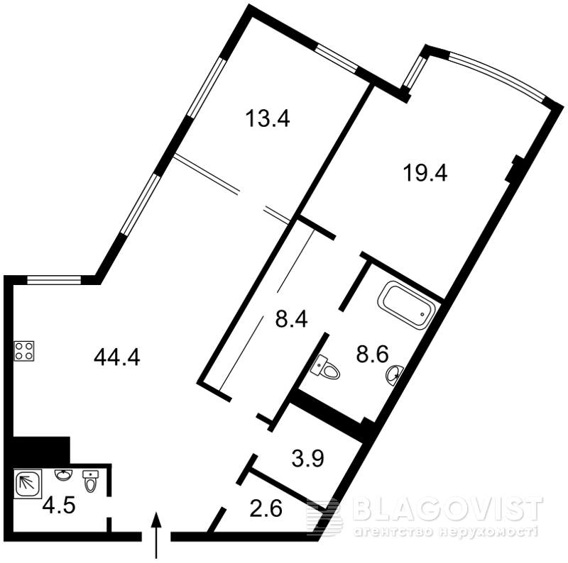 Квартира F-43409, Иоанна Павла II (Лумумбы Патриса), 6/1, Киев - Фото 10