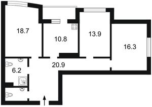 Квартира Моторный пер., 9а, Киев, Z-698588 - Фото2