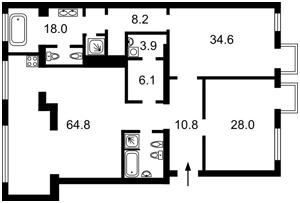 Квартира Толстого Льва, 29, Київ, D-36392 - Фото2