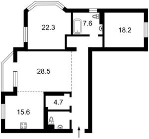 Apartment Mykilsko-Slobidska, 1а, Kyiv, Z-691500 - Photo2