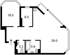 Квартира Болсуновская (Струтинского Сергея), 2, Киев, F-42696 - Фото2