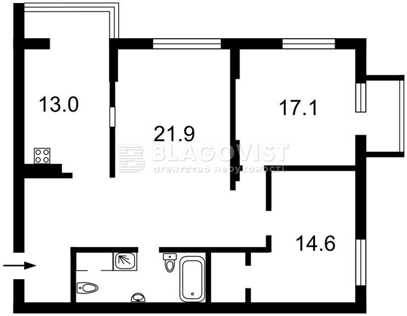 Квартира E-39411, Богдановская, 7а, Киев - Фото 6