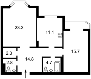 Квартира Героїв Сталінграду просп., 55, Київ, Z-695870 - Фото2