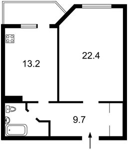 Квартира Йорданська (Гавро Лайоша), 1, Київ, Z-692800 - Фото2