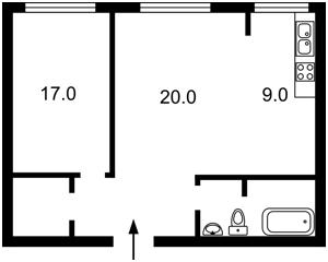Квартира Болбочана Петра (Каменєва Командарма), 4а, Київ, Z-696468 - Фото2