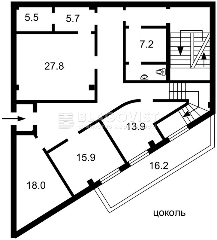 Торгово-офисное помещение, M-37886, Бажана Николая просп., Киев - Фото 1