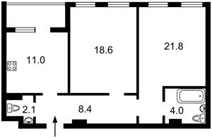 Квартира Победы просп., 72, Киев, Z-632562 - Фото2