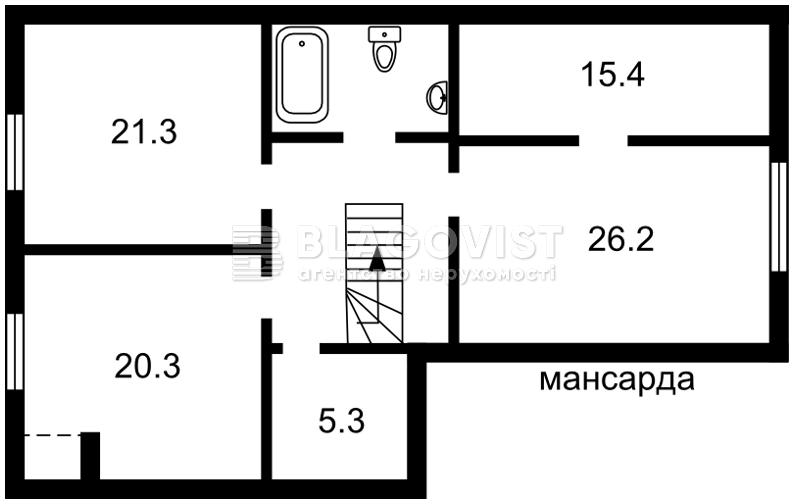 Дом F-43682, Лесная, Петропавловская Борщаговка - Фото 3