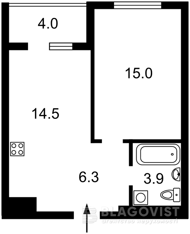 Квартира H-48047, Семьи Кульженко (Дегтяренко Петра), 1 корпус 22, Киев - Фото 3