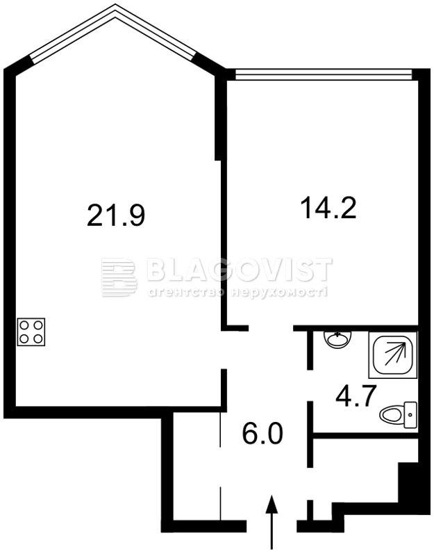 Квартира A-111368, Вышгородская, 45, Киев - Фото 6