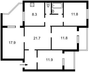 Квартира Цветаевой Марины, 14, Киев, Z-258224 - Фото 2