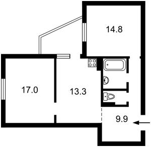 Квартира Пригородная, 26б, Новоселки (Киево-Святошинский), R-34951 - Фото 2