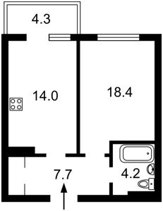 Квартира Воскресенська, 18, Київ, Z-701467 - Фото2