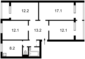 Квартира Заболотного Академика, 94, Киев, Z-693081 - Фото2