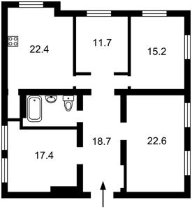 Квартира Антонова Авиаконструктора, 2/32, Киев, A-111524 - Фото2
