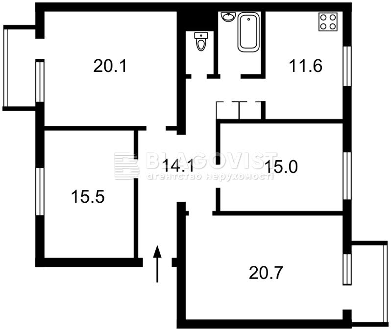 Квартира H-48130, Генерала Алмазова (Кутузова), 14, Киев - Фото 5