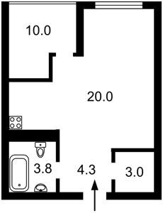 Квартира Бендукидзе Кахи, 2, Киев, P-28681 - Фото2