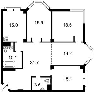 Квартира Ломоносова, 75а, Киев, M-37740 - Фото2