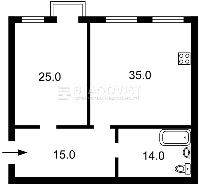 Квартира E-40104, Рогнединская, 1/13, Киев - Фото 4