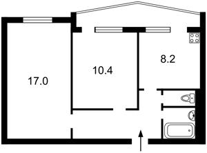 Квартира Липківського Василя (Урицького), 32, Київ, F-43649 - Фото2