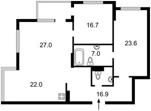 Квартира Голосіївський проспект (40-річчя Жовтня просп.), 62, Київ, Z-704776 - Фото2