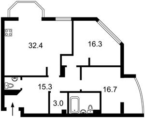 Квартира Дегтяревская, 25а, Киев, Z-311272 - Фото 2