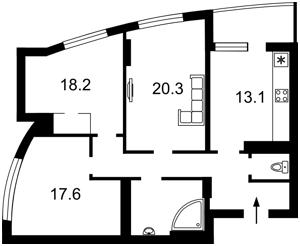 Квартира Перемоги просп., 121б, Київ, Z-481461 - Фото 2