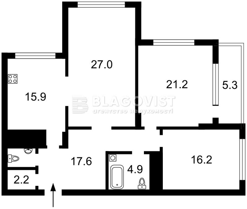 Квартира C-107848, Драгомирова Михаила, 20, Киев - Фото 6