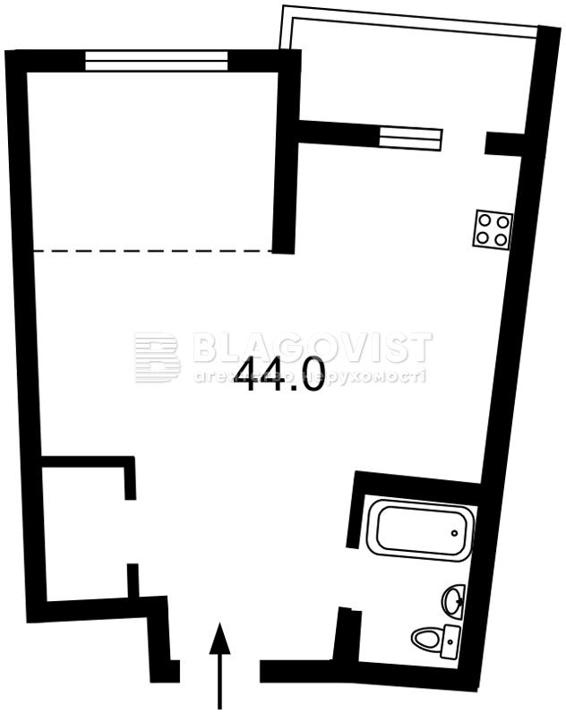 Квартира F-43818, Тютюнника Василия (Барбюса Анри), 28а, Киев - Фото 4